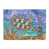 Turtles 5x7 Rugs