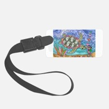 Sea Turtle Sea Horse Art Luggage Tag