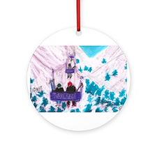 ski lift cropped bigger.jpg Ornament (Round)