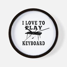I Love Keyboard Wall Clock