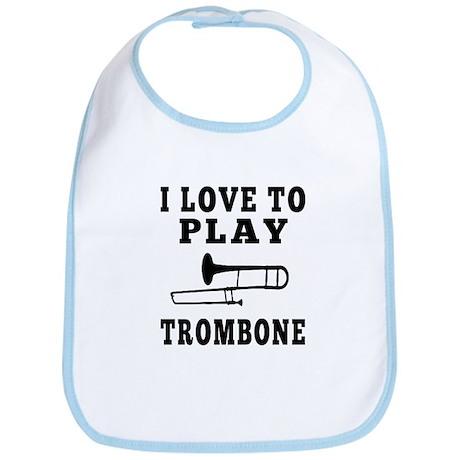 I Love Trombone Bib