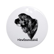 Newf Charcoal Ornament (Round)
