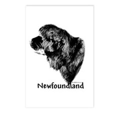 Newf Charcoal Postcards (Package of 8)