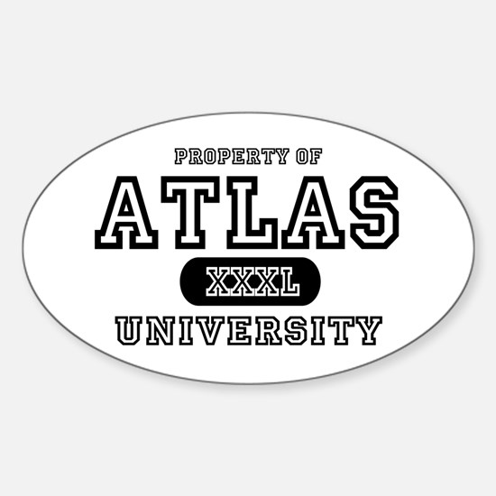 Atlas University Oval Decal