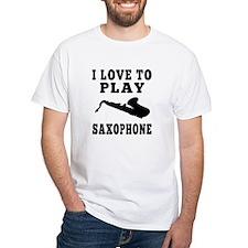 I Love Saxophone Shirt