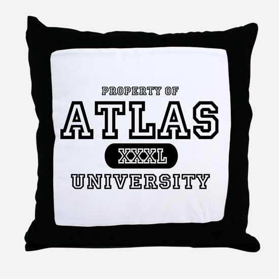 Atlas University Throw Pillow