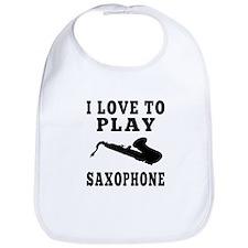 I Love Saxophone Bib