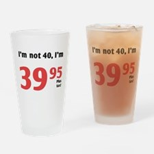 Funny Tax 40th Birthday Drinking Glass