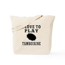 I Love Tambourine Tote Bag