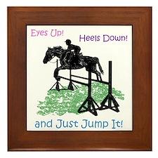 Fun Hunter/Jumper Equestrian Horse Framed Tile