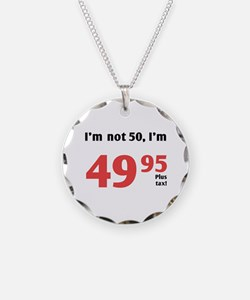 Funny Tax 50th Birthday Necklace