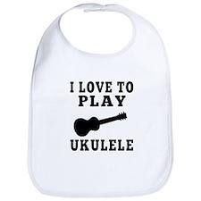 I Love Ukulele Bib