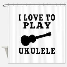 I Love Ukulele Shower Curtain