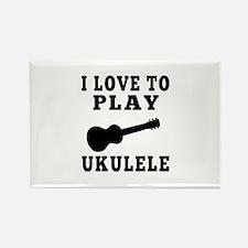I Love Ukulele Rectangle Magnet