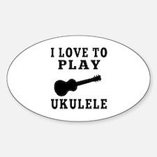 I Love Ukulele Decal