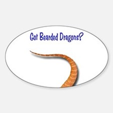 Got Bearded Dragons (Tail) Oval Decal