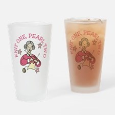Knit One, Pearl Two Drinking Glass