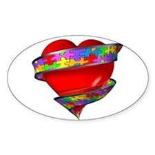 Red Heart w/ Ribbon Stickers