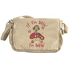 I'm Knittin' Messenger Bag