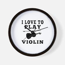 I Love Violin Wall Clock