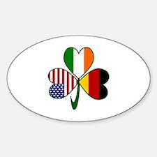 Shamrock of Germany Sticker (Oval)