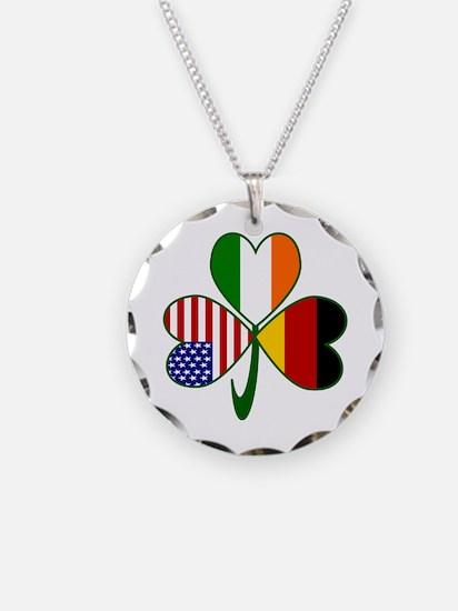 Shamrock of Germany Necklace Circle Charm
