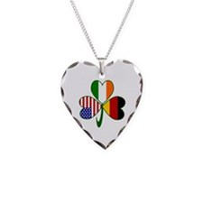 Shamrock of Germany Necklace Heart Charm