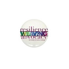 Cute Resilience and advocacy Mini Button (10 pack)