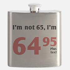 Funny Tax 65th Birthday Flask