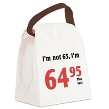 Funny Tax 65th Birthday Canvas Lunch Bag
