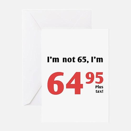 Funny Tax 65th Birthday Greeting Card