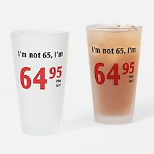 Funny Tax 65th Birthday Drinking Glass