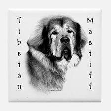 Tibetan Mastiff Charcoal Tile Coaster