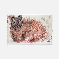 Firework Cat Rectangle Magnet