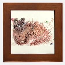 Firework Cat Framed Tile