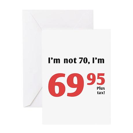 Funny Tax 70th Birthday Greeting Card
