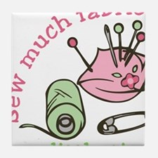 Sew Much Fabric Tile Coaster
