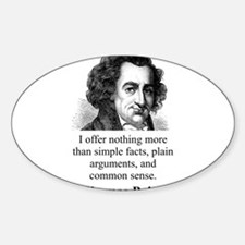 I Offer Nothing More - Thomas Paine Sticker (Oval)
