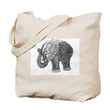 Jeweled Wedding Elephant Tote Bag