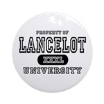 Lancelot University Ornament (Round)