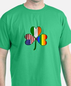 Gay Pride Shamrock T-Shirt