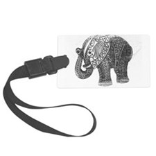 Jeweled Wedding Elephant Luggage Tag
