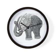Jeweled Wedding Elephant Wall Clock
