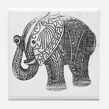 Jeweled Wedding Elephant Tile Coaster