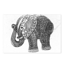 Jeweled Wedding Elephant Postcards (Package of 8)