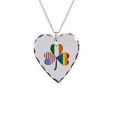 Gay Pride Shamrock Necklace