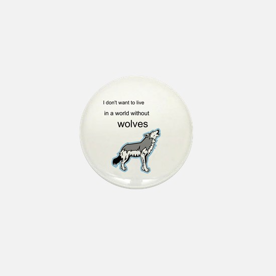 Cute Save the wolves Mini Button