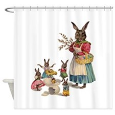 Vintage Easter Bunny with Spring Flowers Shower Cu