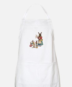 Vintage Easter Bunny with Spring Flowers Apron