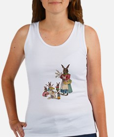 Vintage Easter Bunny with Spring Flowers Tank Top